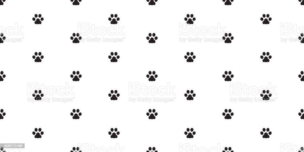 Dog Paw Cat Kitten Vector Seamless Pattern Wallpaper Background Royalty Free