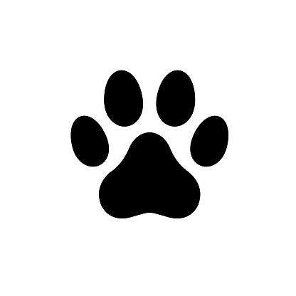 Dog paw icon logo stock illustration