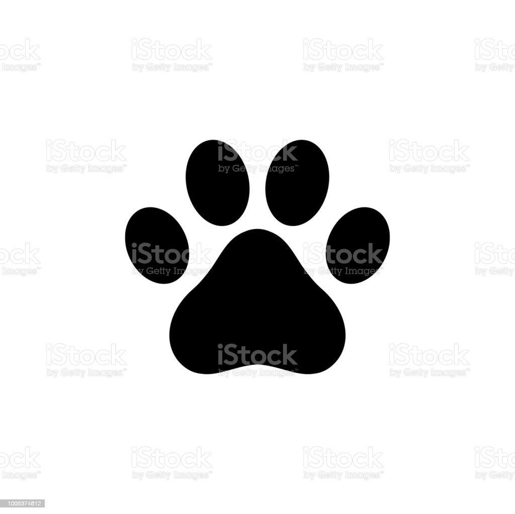 Hund Pfote Symbol logo - Lizenzfrei Bedienungsknopf Vektorgrafik