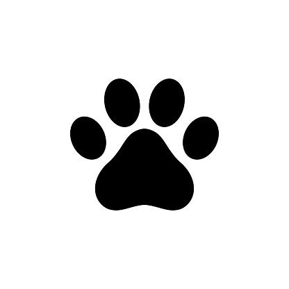 Dog paw icon logo