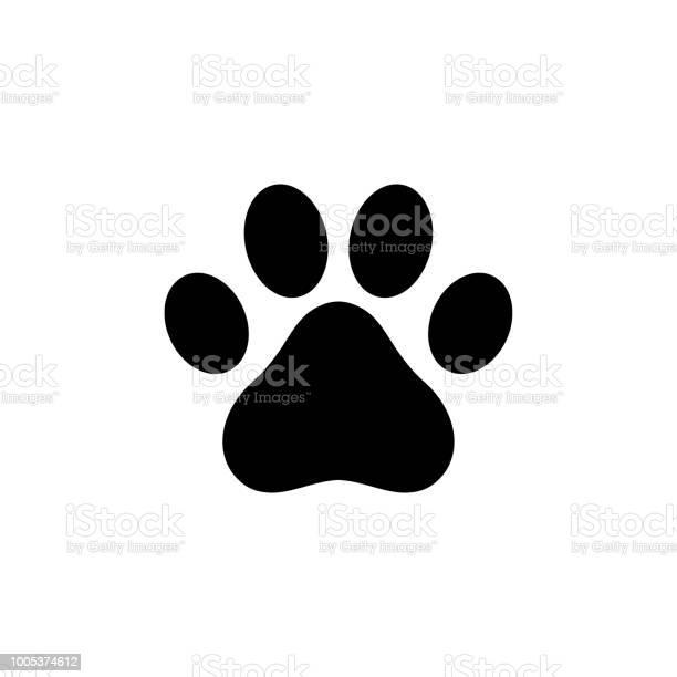 Hund Pfote Symbol Logo Stock Vektor Art und mehr Bilder von Bedienungsknopf