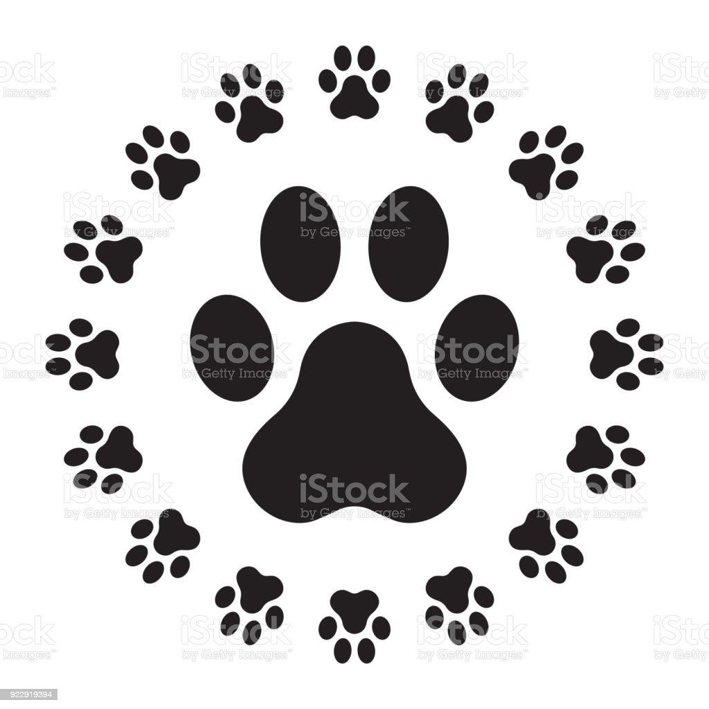 Dog Paw Icon Logo Vector Puppy Illustration Character Cartoon Design ...