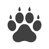 istock Dog paw icon 941137534