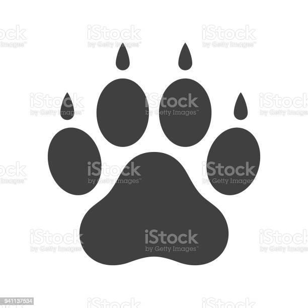 Dog paw icon vector id941137534?b=1&k=6&m=941137534&s=612x612&h=yclgxjkj9odjsbx allcjuzylraja0sf4kwc1an6ovk=
