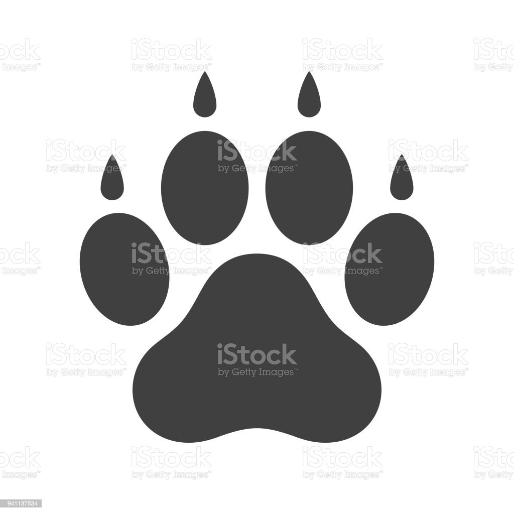 royalty free dog paw print clip art vector images illustrations rh istockphoto com dog paw print clip art vector small dog paw print clip art