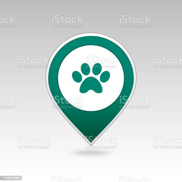 Dog paw pin map icon map pointer map markers vector id1159036881?b=1&k=6&m=1159036881&s=612x612&h=lamo h0tae4ds3d6zqas0hitezk1x1mu3ujw04fgrw8=