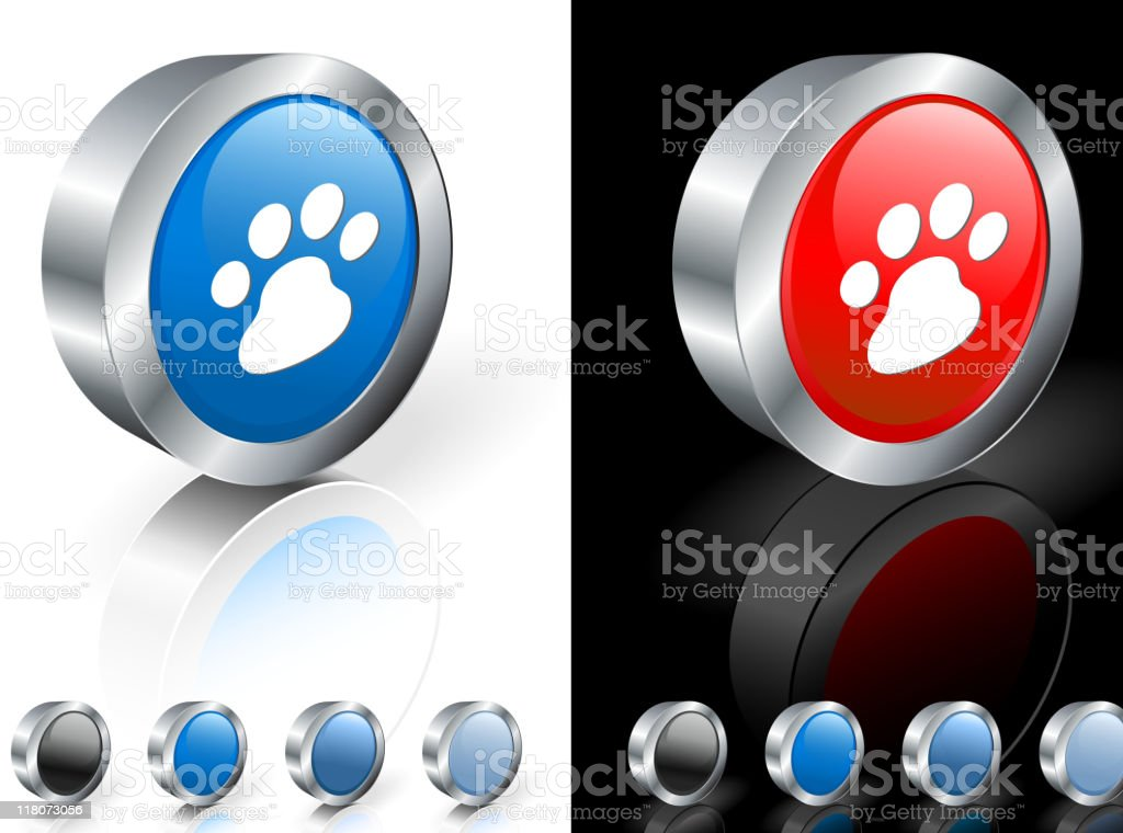 dog paw print 3D royalty free vector art royalty-free stock vector art