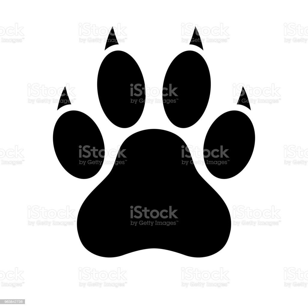 ilustração de cão pata imprimir Ícone de pata ilustração em vetor e