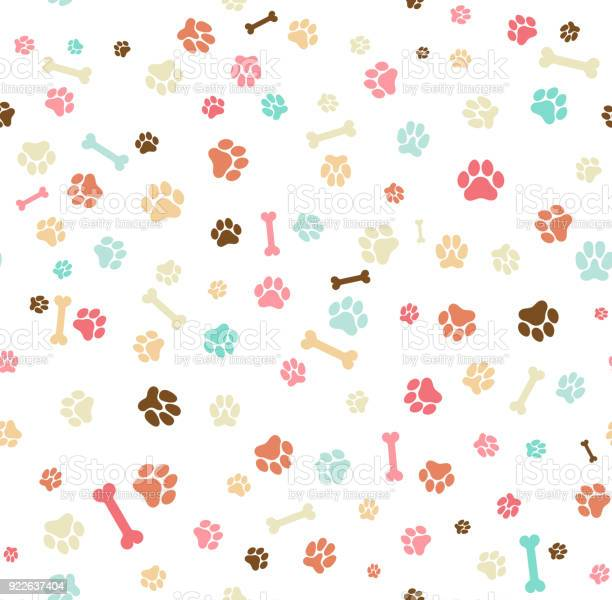 Dog paw print seamless template for your design wrapping paper card vector id922637404?b=1&k=6&m=922637404&s=612x612&h=rm5vrev8n7k5qfcegusdralpqu77zyfckbarvivil1c=