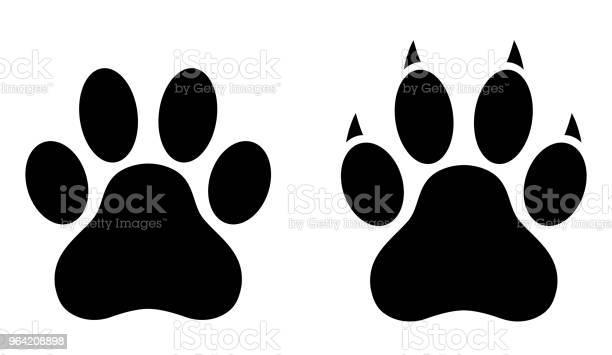 Dog paw print set paw icon vector illustration vector id964208898?b=1&k=6&m=964208898&s=612x612&h=cgxt0voip1zlwyl5flakomf 4zlc7tasuxcdj cs7tu=