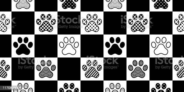 Dog paw seamless pattern footprint vector checked polka dot heart vector id1170829004?b=1&k=6&m=1170829004&s=612x612&h=g mt837nosozavu3o6z1umqypesgt7mzihlb9us q8k=