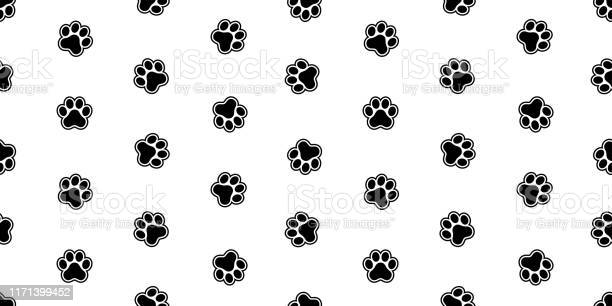 Dog paw seamless pattern vector footprint french bulldog cartoon vector id1171399452?b=1&k=6&m=1171399452&s=612x612&h=axqkh9njeklu0k ei nvysmpopi eyd2 uk eixwnzc=