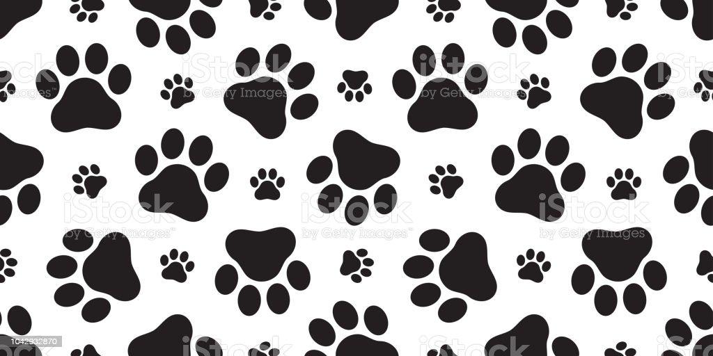 Fondo Perro Huellas: Ilustración De Perro De La Pata De Patrones Sin Fisuras