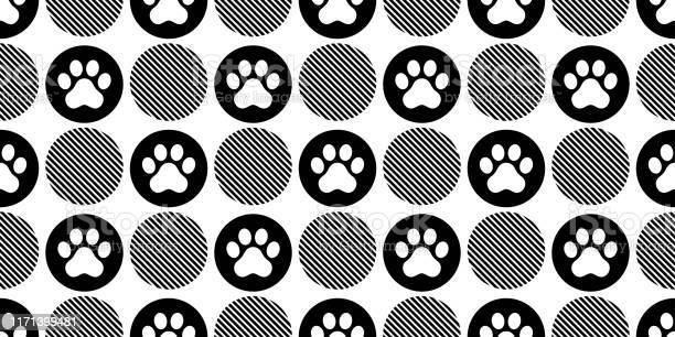 Dog paw seamless pattern vector footprint polka dot french bulldog vector id1171399481?b=1&k=6&m=1171399481&s=612x612&h=wzshfy1xk3xmohrde7ipneqtpyxxeo7b2jravnxhq e=