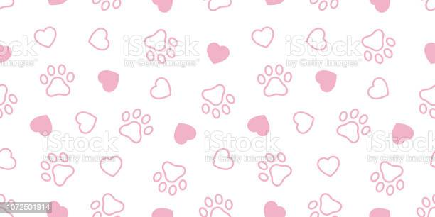 Dog paw seamless pattern vector heart french bulldog valentine tile vector id1072501914?b=1&k=6&m=1072501914&s=612x612&h=bon8g4xl  yxco79  8fl q6kbmgaslkolhfniasjh8=