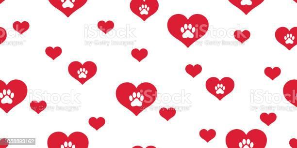 Dog paw seamless pattern vector heart french bulldog valentine vector id1058893162?b=1&k=6&m=1058893162&s=612x612&h=aakcwywbpzz3sfvocxjpl0kp40 zmdjdrfwskhewkbk=