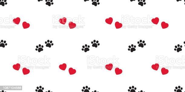 Dog paw seamless pattern vector heart valentine footprint french vector id1087104588?b=1&k=6&m=1087104588&s=612x612&h=yudps0jom a9cwkyg1ezwgng25ledoet2b0orp p45o=
