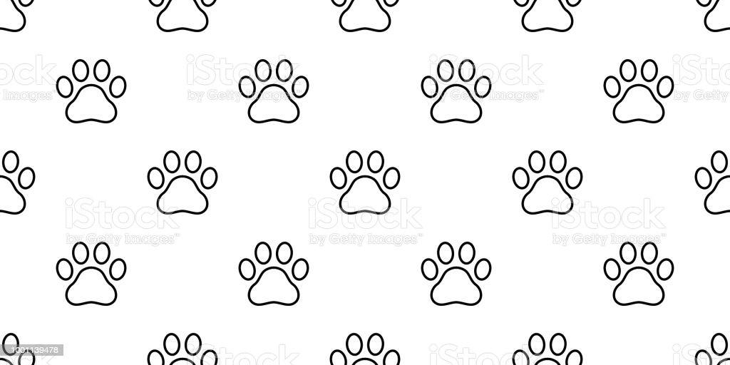 Fondo Perro Huellas: Ilustración De Pata De Perro Huella Patrón Gatito