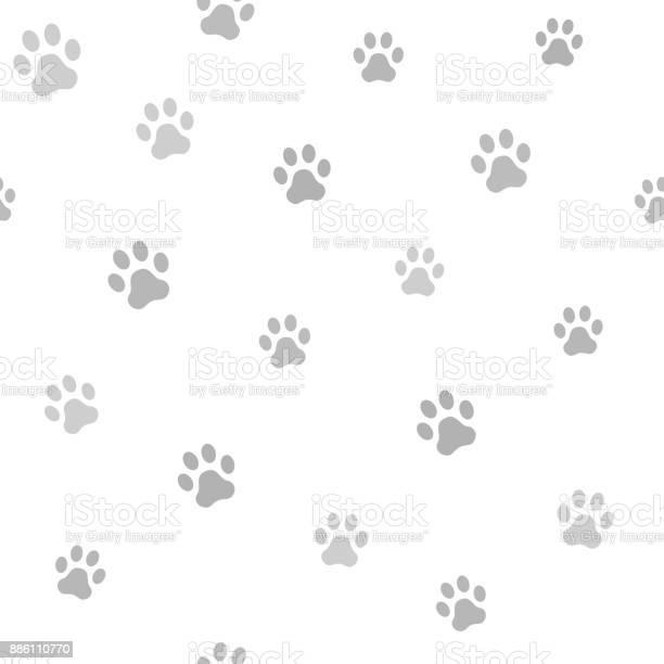 Dog paw track seamless animal pattern of paw footprint vector vector id886110770?b=1&k=6&m=886110770&s=612x612&h=8ywjf1a0zvf8dcfuhcbvlfilrksc3keb0nhj4qwb3gw=