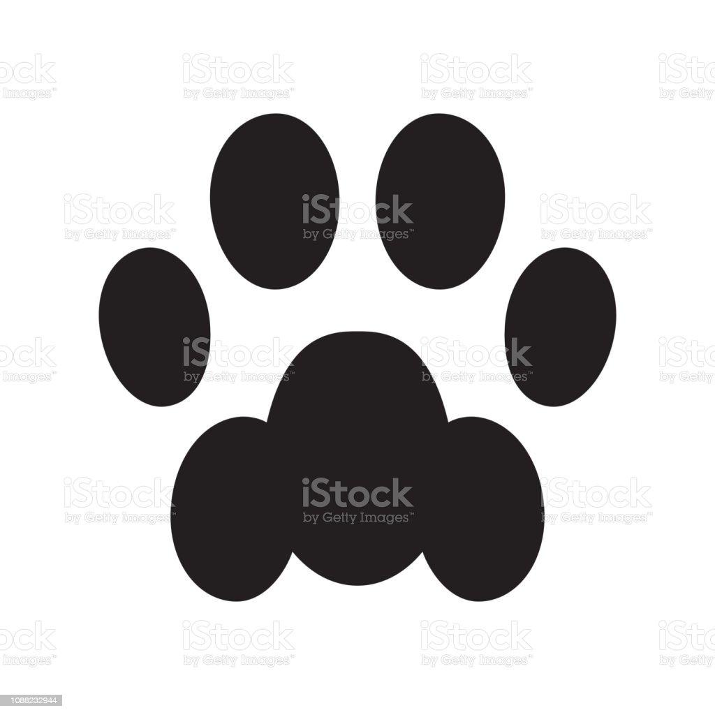 Chien Patte Empreinte Icône Logo Bulldog Français Chat Chiot Chaton Dessin Animé Symbole Signe Illustration Doodle Illustration Vectorielle Vecteurs