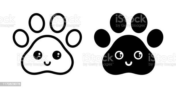 Dog paw vector icon footprint smile face emoticon french bulldog vector id1170829078?b=1&k=6&m=1170829078&s=612x612&h=jn9trse9r99zl8c8j1u1nwguzrfahclgcloxlvrmlha=
