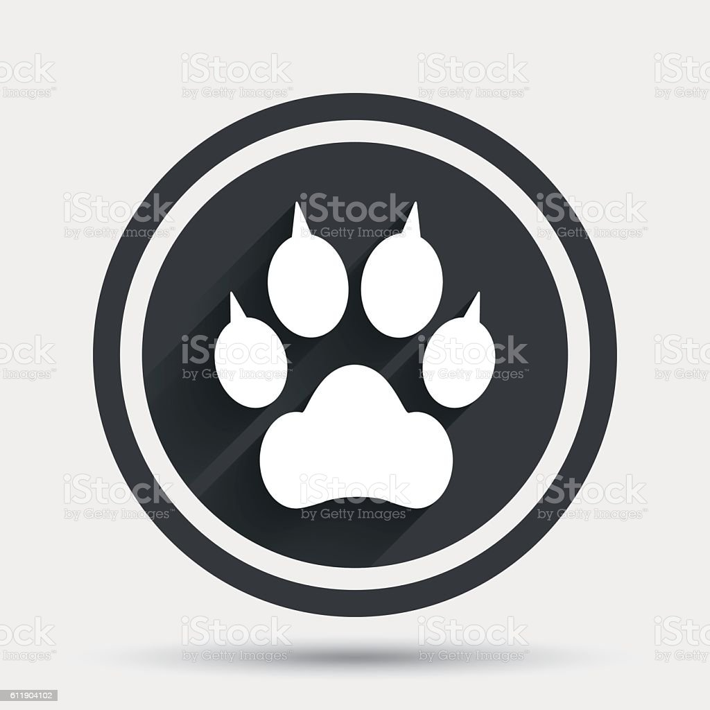 Dog paw symbol images symbol and sign ideas dog paw with clutches sign icon pets symbol stock vector art dog paw with clutches sign biocorpaavc