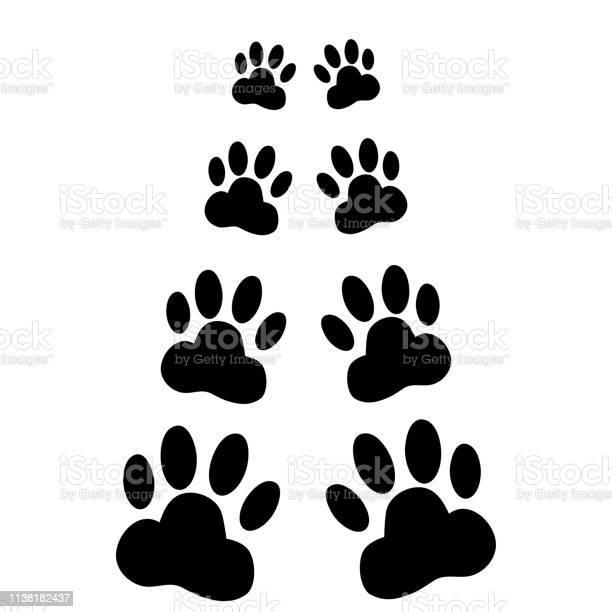 Dog paws following illustration on a white background vector id1138182437?b=1&k=6&m=1138182437&s=612x612&h=anryhq9a4vu5o8sqcbxbfp7lziy9jts8tiro2i1ne g=