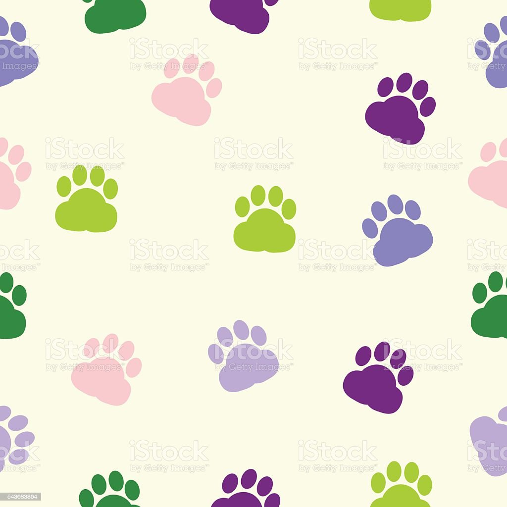 Ilustración de Dog Paws Pattern Print Trace Color Animal Adoption y ...