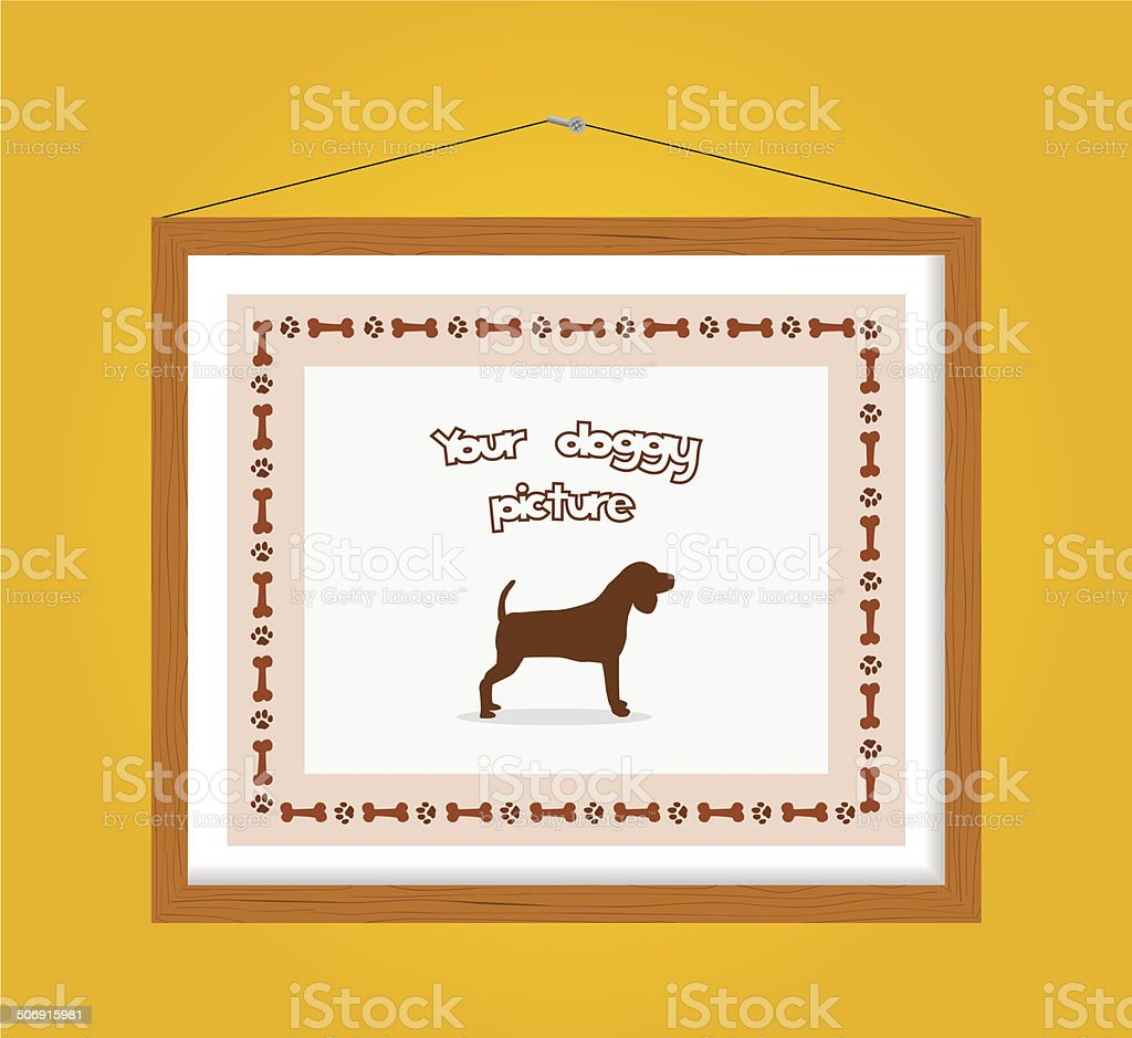 dog picture frame royalty-free stock vector art