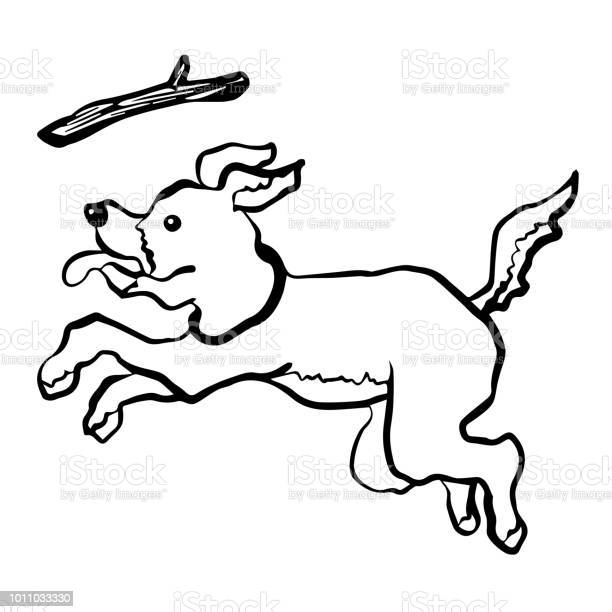 Dog play catching frisbee branch vector illustration hand drawing vector id1011033330?b=1&k=6&m=1011033330&s=612x612&h=uvlnct8lv9rcs6sykyvwpki08g1wccxm1pfuvh8r7uu=