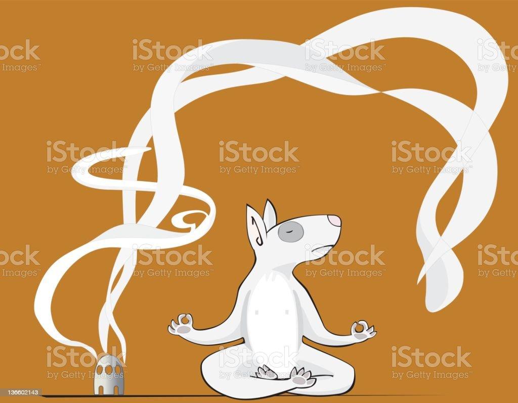 Dog practising Yoga vector art illustration
