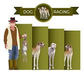 Dog racing vector