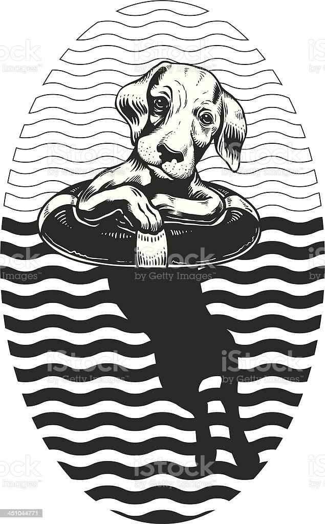 Dog Rescue royalty-free stock vector art