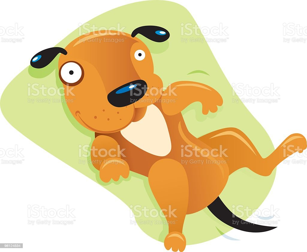 Dog Rolling Over royalty-free dog rolling over stock vector art & more images of animal back