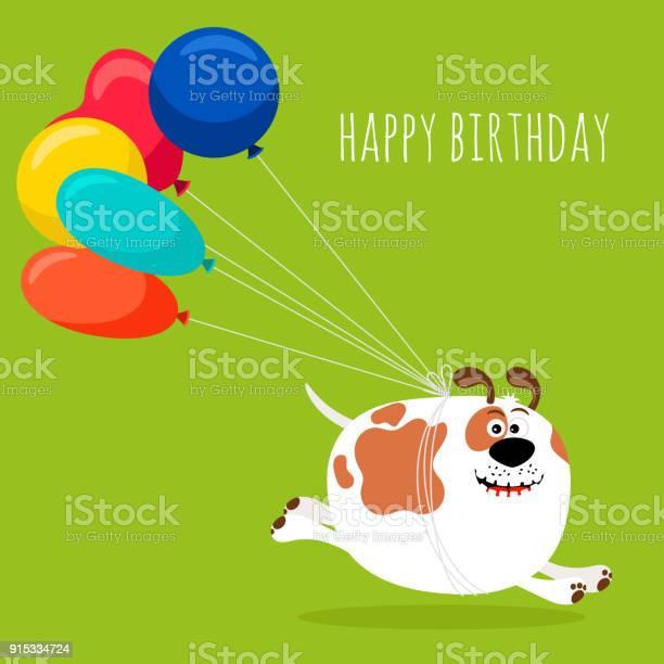 Dog running with air balloons card vector id915334724?b=1&k=6&m=915334724&s=612x612&h=eihojtnaqnqeqonu0uz4vojuohgshoci0m5g87fyecw=