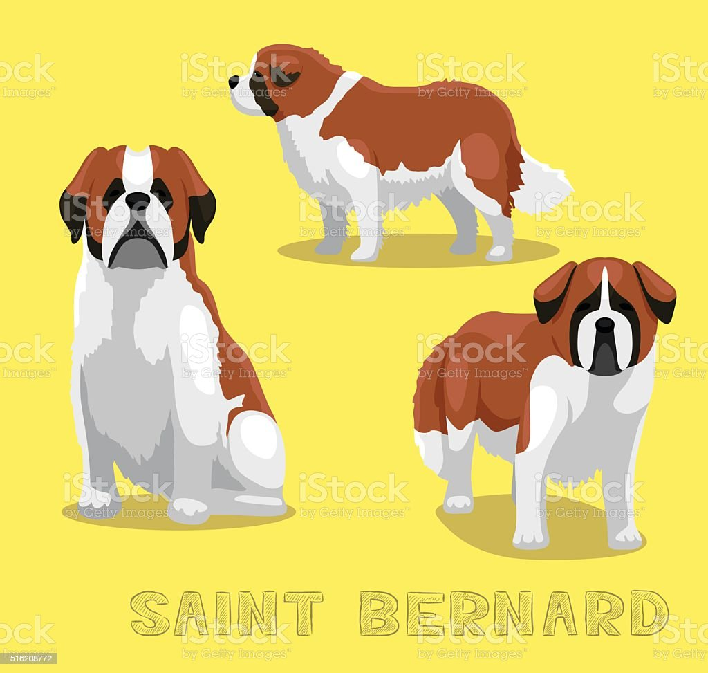 Dog Saint Bernard Cartoon Vector Illustration vector art illustration