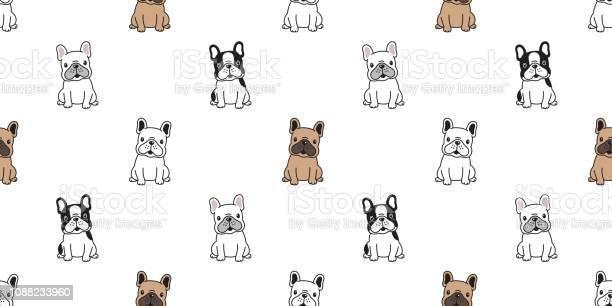 Dog seamless pattern vector french bulldog sitting dog breed paw vector id1088233960?b=1&k=6&m=1088233960&s=612x612&h=hjydaqldklb27yb2uager0784hsau30ulpukcy g7 a=
