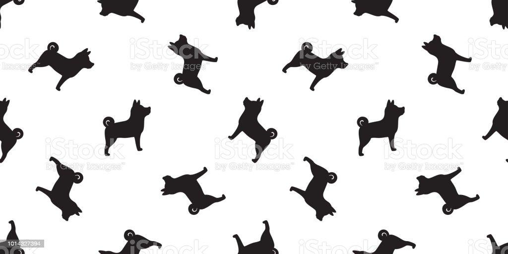 Ilustración De Vector Patrón De Perro Aislado Pata Fondo De Azulejo