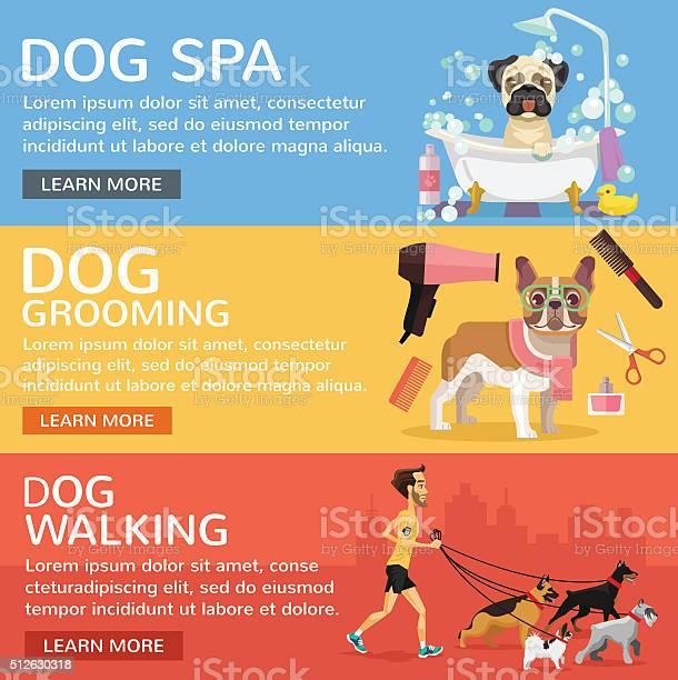 Dog service vector flat banners set vector id512630318?b=1&k=6&m=512630318&s=612x612&h=wqlv edwpvizwf3yeaur7qoa1ammwg8l1e5yxfa92o4=