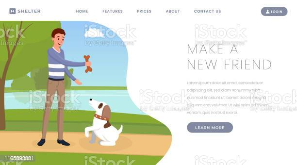 Dog shelter vector landing page template pet owner volunteer playing vector id1165893881?b=1&k=6&m=1165893881&s=612x612&h=8npbs4 abu18bvafngas5y8lxr6n198bdyd1xfeleso=