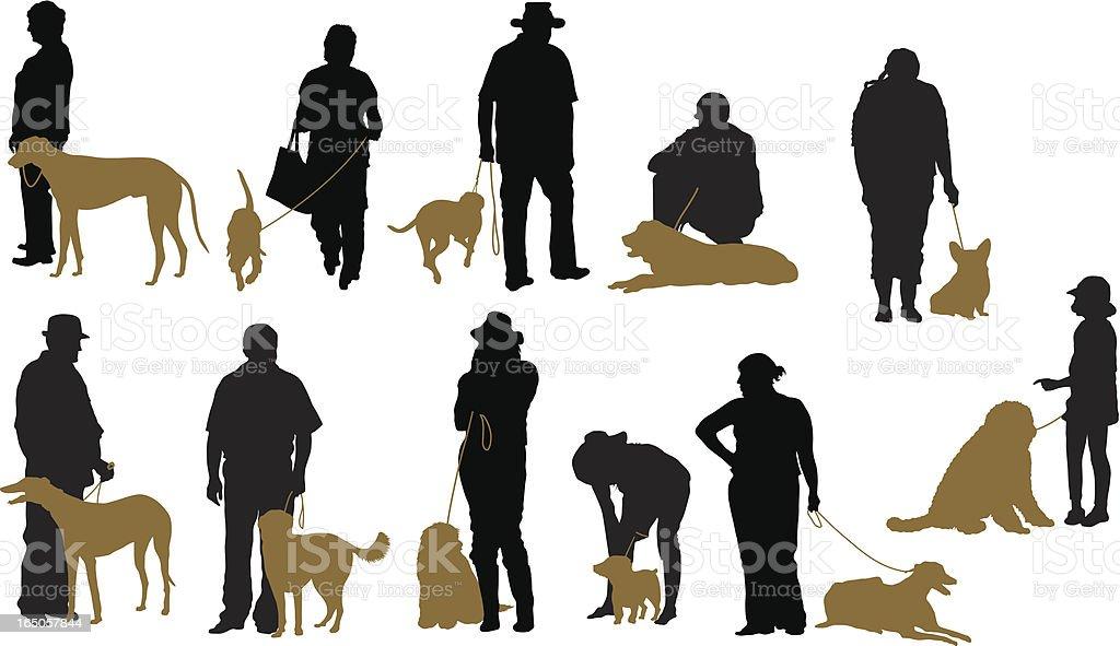 Dog show vector art illustration