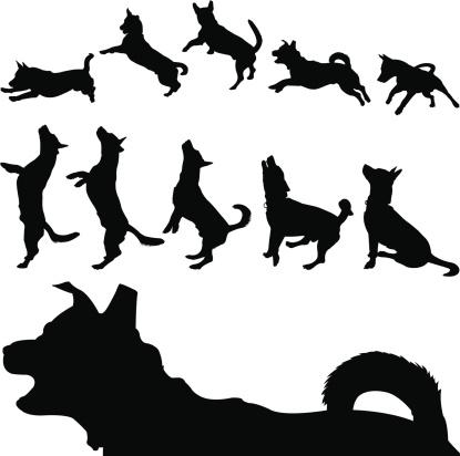 Dog Silhouette Series