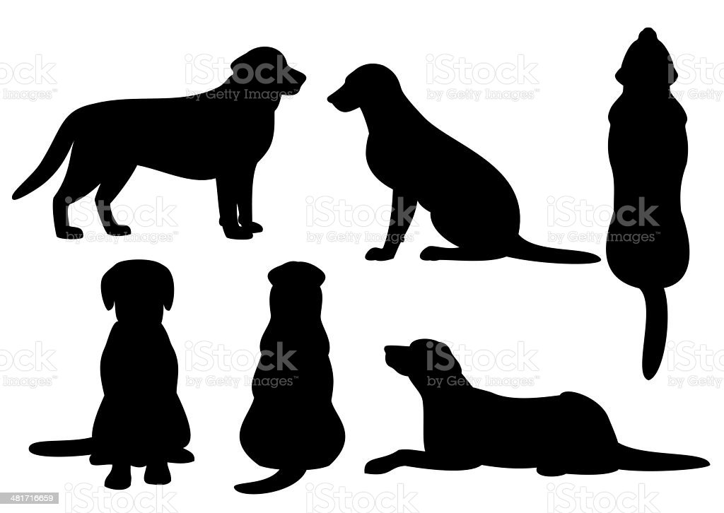 Dog Silhouette Set Stock Vector Art & More Images of ...