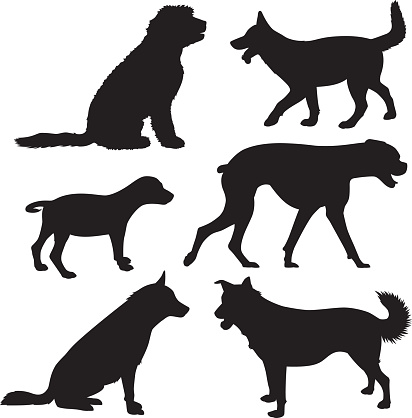 Dog Silhouettes 8