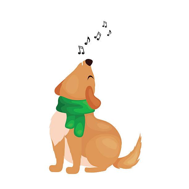 Royalty Free Dog Singing Clip Art, Vector Images ...