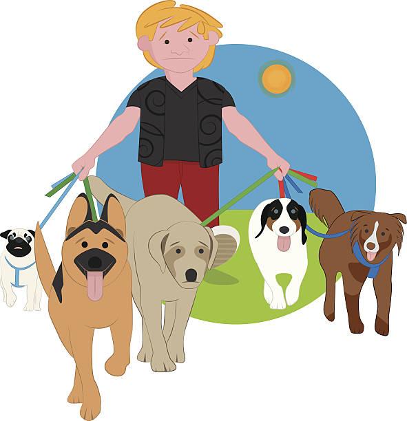 Royalty free pet owner clip art vector images for Babysitter dog sitter