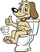 Great illustration of a dog sitting on a toilet. Perfect for a dog training illustration. EPS and JPEG files included. Be sure to view my other illustrations, thanks.