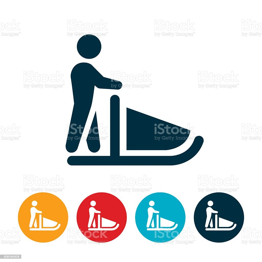 royalty free dog sledding clip art vector images illustrations rh istockphoto com dog sledding clipart dog sled racing clipart