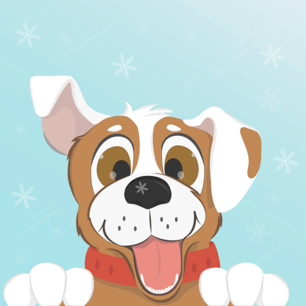 Best Happy Dog Illustrations, Royalty-Free Vector Graphics ...