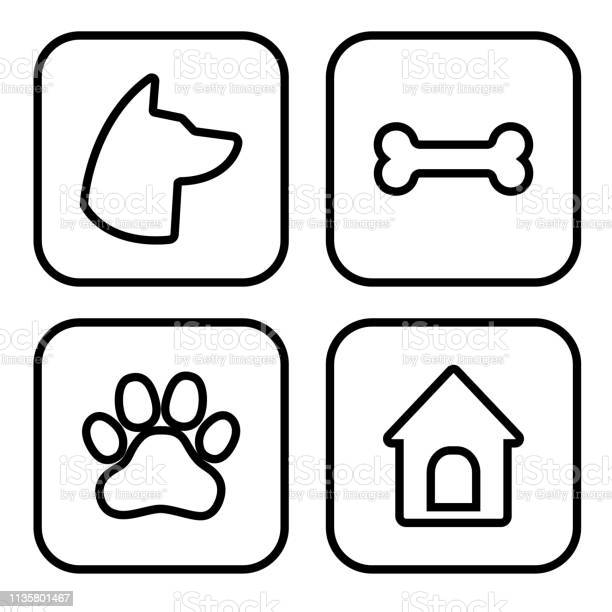 Dog square icons set dog head paw bone dog house vector vector id1135801467?b=1&k=6&m=1135801467&s=612x612&h=wavouvhlfzasgjb58eef6rf5hnxttrzm9moa9vnmdt4=